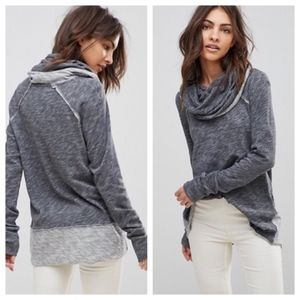 Free People Beach Cocoon Cowl Neck XS/S Pullover